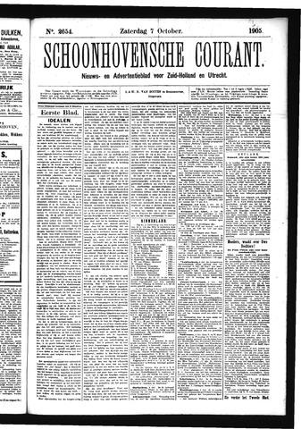 Schoonhovensche Courant 1905-10-07