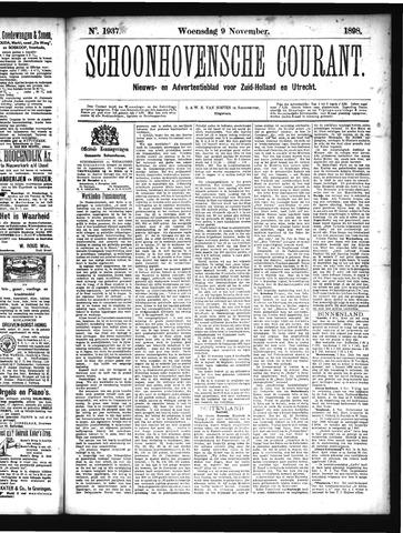 Schoonhovensche Courant 1898-11-09
