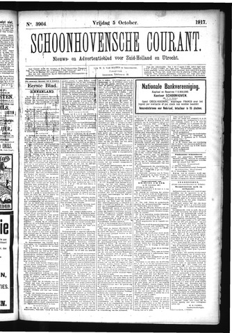 Schoonhovensche Courant 1917-10-05
