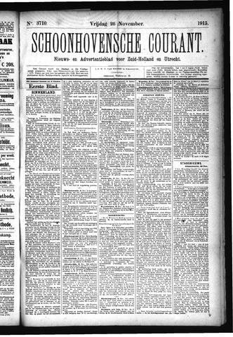 Schoonhovensche Courant 1915-11-26