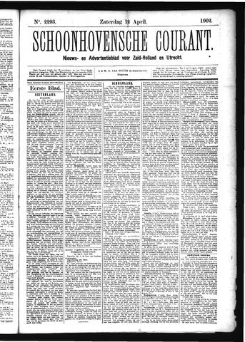Schoonhovensche Courant 1902-04-12