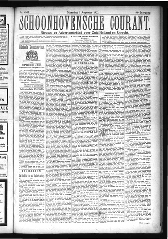 Schoonhovensche Courant 1922-08-07