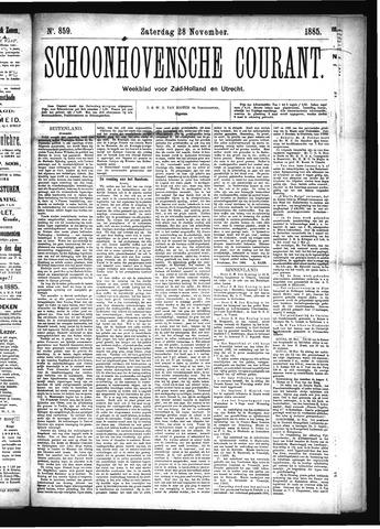 Schoonhovensche Courant 1885-11-28