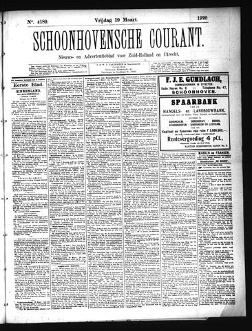 Schoonhovensche Courant 1920-03-19