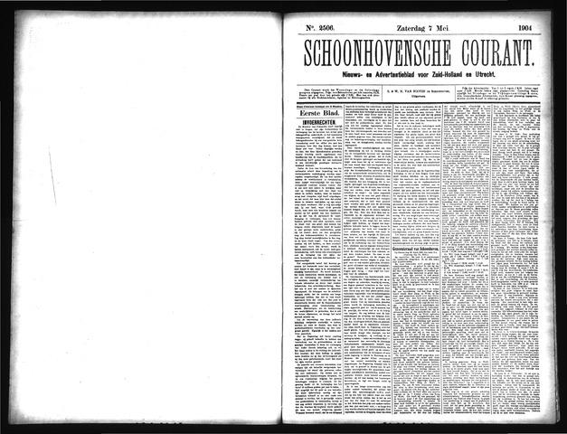 Schoonhovensche Courant 1904-05-07