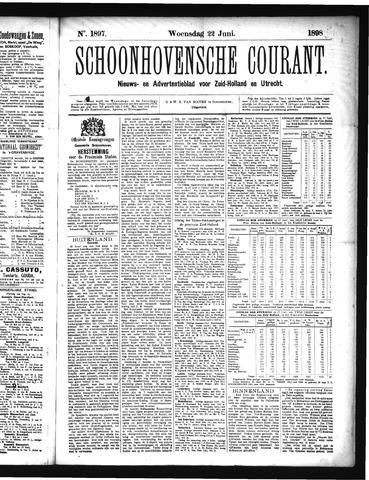 Schoonhovensche Courant 1898-06-22