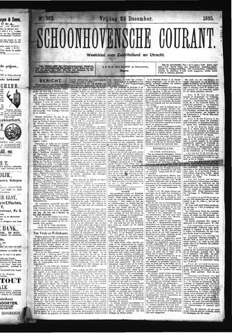 Schoonhovensche Courant 1885-12-25