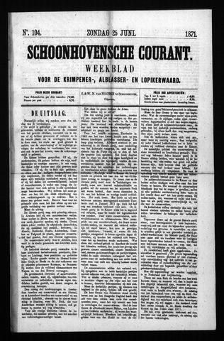 Schoonhovensche Courant 1871-06-25