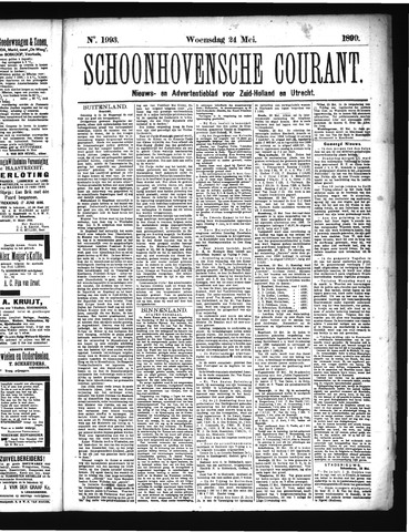 Schoonhovensche Courant 1899-05-24
