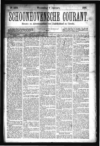 Schoonhovensche Courant 1892