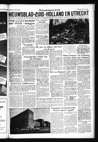 Schoonhovensche Courant 1962-02-14