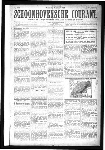 Schoonhovensche Courant 1924-01-02