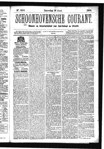 Schoonhovensche Courant 1900-06-16