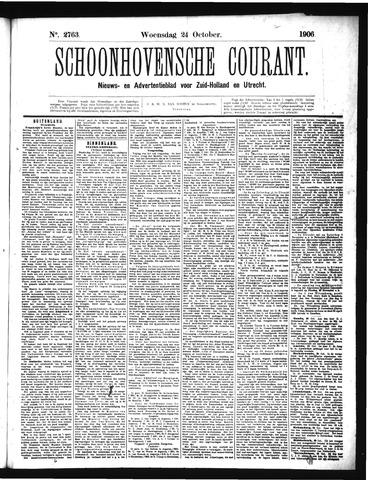 Schoonhovensche Courant 1906-10-24