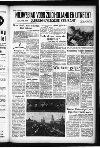 Schoonhovensche Courant 1957-11-08