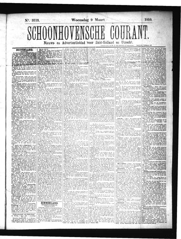 Schoonhovensche Courant 1910-03-09