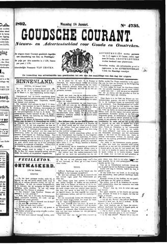 Goudsche Courant 1892-01-18