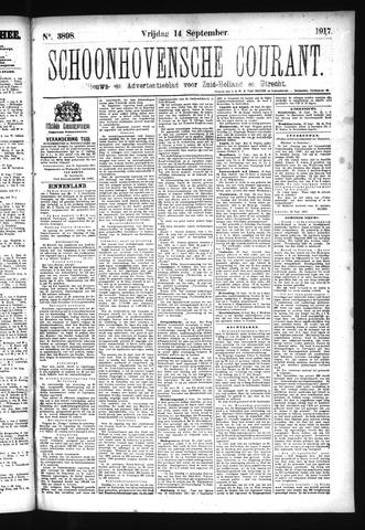 Schoonhovensche Courant 1917-09-14