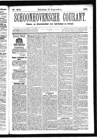 Schoonhovensche Courant 1906-09-15