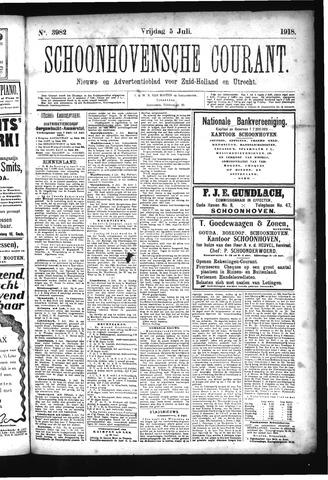 Schoonhovensche Courant 1918-07-05