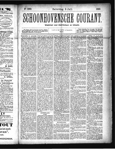 Schoonhovensche Courant 1890-07-05