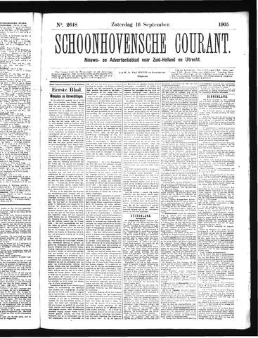 Schoonhovensche Courant 1905-09-16