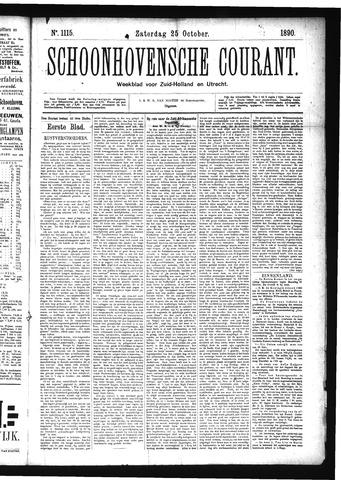 Schoonhovensche Courant 1890-10-25