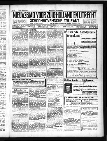 Schoonhovensche Courant 1937-09-22