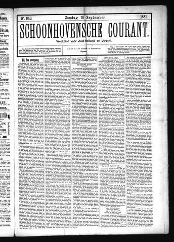 Schoonhovensche Courant 1881-09-18