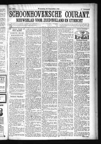 Schoonhovensche Courant 1925-09-30