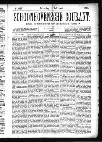 Schoonhovensche Courant 1893-02-11