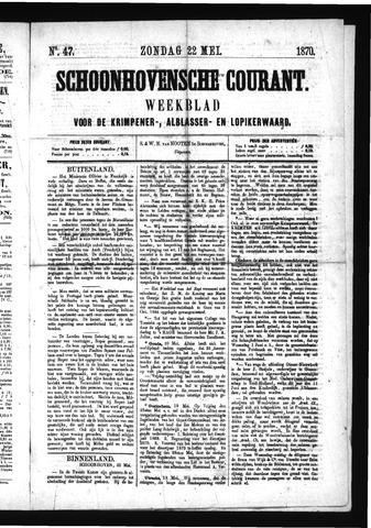 Schoonhovensche Courant 1870-05-22