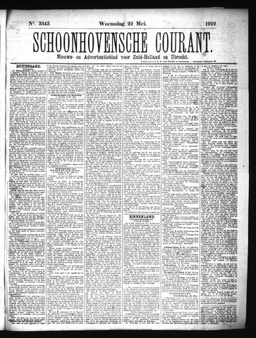 Schoonhovensche Courant 1912-05-22