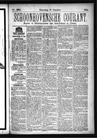 Schoonhovensche Courant 1914-10-17
