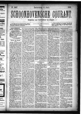 Schoonhovensche Courant 1889-07-06