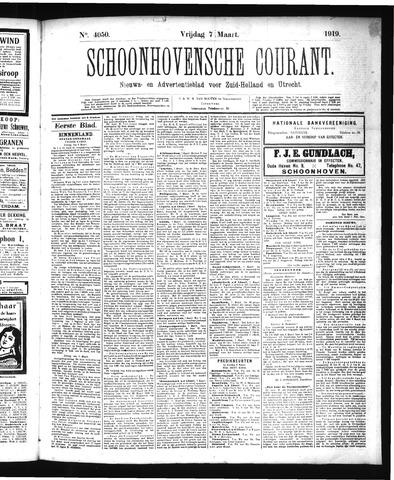 Schoonhovensche Courant 1919-03-07