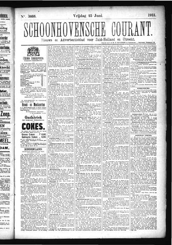 Schoonhovensche Courant 1915-06-25