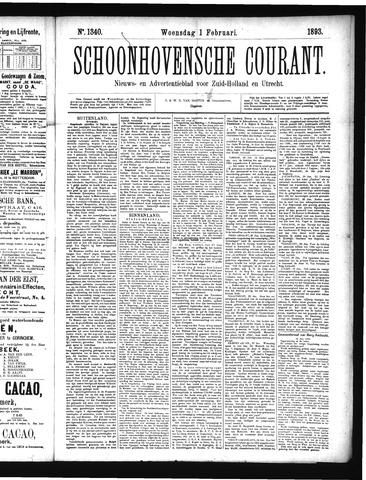 Schoonhovensche Courant 1893-02-01