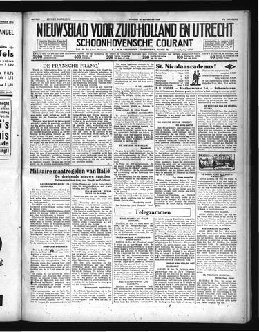 Schoonhovensche Courant 1935-11-29
