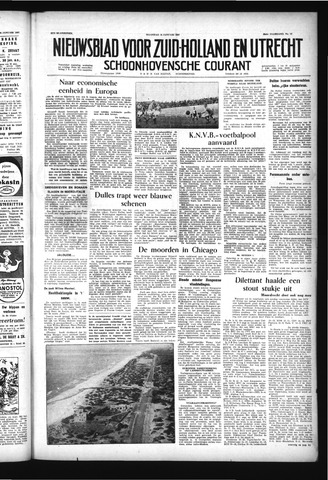 Schoonhovensche Courant 1957-01-28
