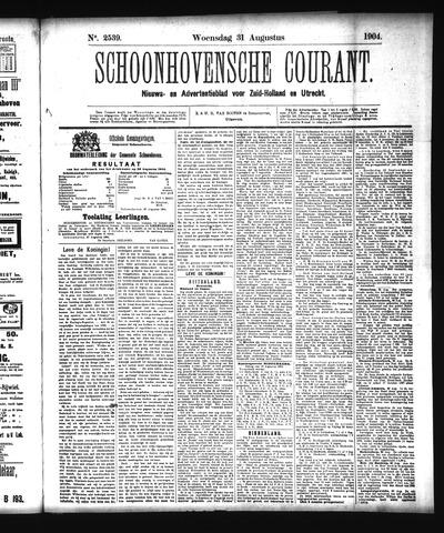 Schoonhovensche Courant 1904-08-31