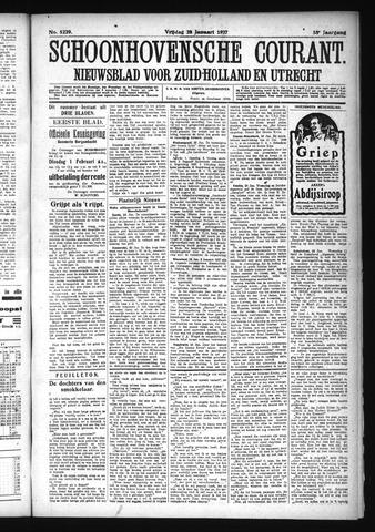 Schoonhovensche Courant 1927-01-28