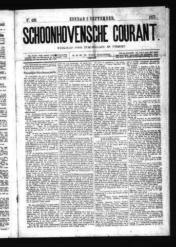 Schoonhovensche Courant 1877-09-02