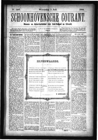 Schoonhovensche Courant 1894-07-04