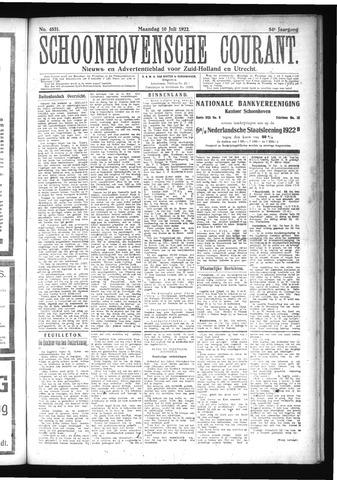 Schoonhovensche Courant 1922-07-10