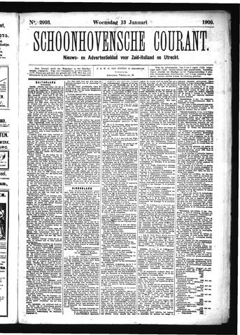 Schoonhovensche Courant 1909-01-13
