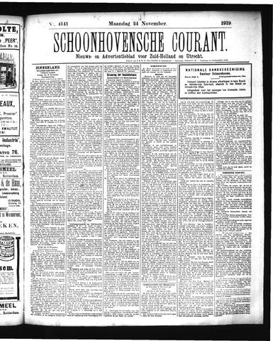 Schoonhovensche Courant 1919-11-24