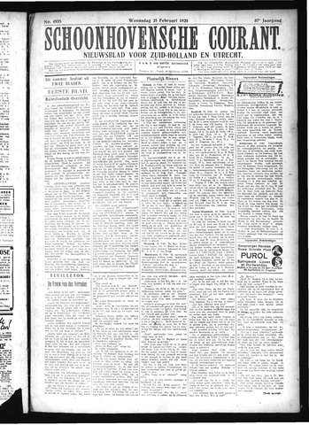 Schoonhovensche Courant 1925-02-25