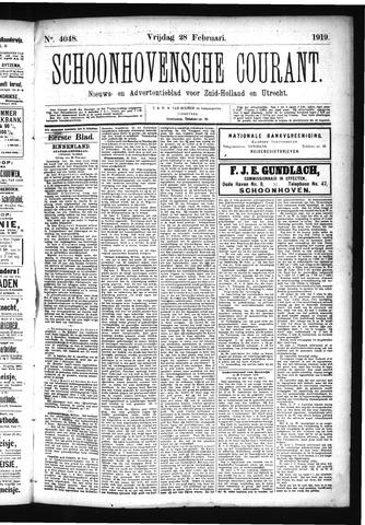 Schoonhovensche Courant 1919-02-28