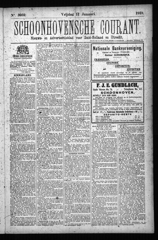 Schoonhovensche Courant 1918-01-11